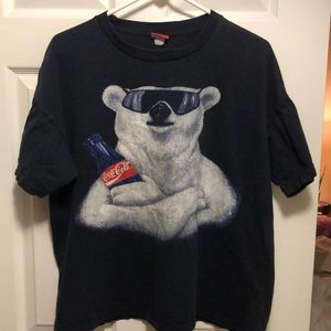 Vintage Coca-Cola coke polar bear shirt